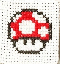 Mario Mushroom Cross Stitch