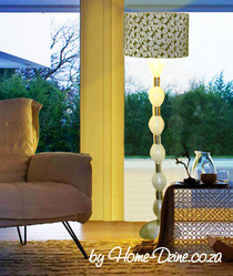 Floor Lamp From Plastic Bottles