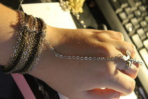 Multi Layer Chain Hand Harness