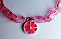 Fresh Summer Grapefruit Necklace