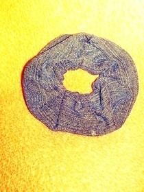 Denim Scrunchie From Old Jeans