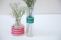 Ombre Wrapped Bud Vases