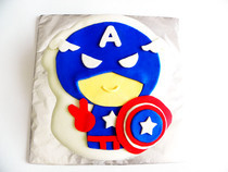Captain America Pistachio Cake
