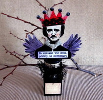 Edgar Allan Poe Mixed Media Assemblage