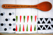 Hand Printed Kitchen Towels