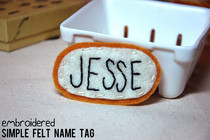 Embroidered Felt Name Tag