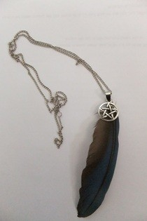 Feather & Pentacle Necklaces