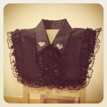 Ruffels And Rhinestones   Old Shrit To Cute Collar Piece