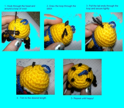 How to make a food plushie. Despicable Me Minion - Step 11