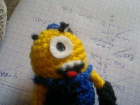 How to make a keyring. Despicable Me Minion - Step 13
