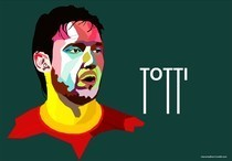 Totti In Wedha's Pop Art Portrait