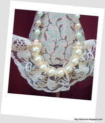 Lace And Faux Pearls Necklace