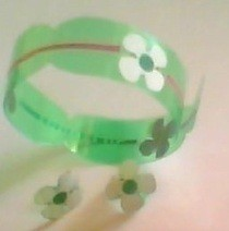 Bangles And Earings Made From Plastic Bottle