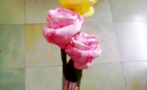 Tissue Paper Rose Flower