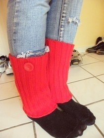 Wool Cardigan To Legwarmers