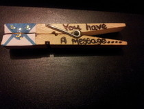 Clothespin Message