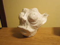 Clay Goblin Head