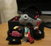 Felt And Needle Work Zombie Banker.