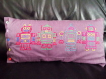 Robot Bolster Pillow.