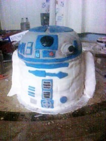 R2d2 Birthday Cake.