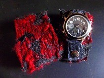 Scrap Yarn Wrist Cuff And Watchband With Video Tut  