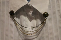 Rose Clip On Collar Chain