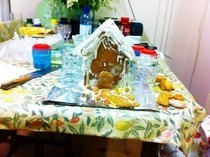Snowy Gingerbread House