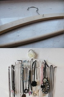 Necklace Display From Coathanger