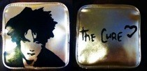 Robert Smith Stenciled Silver Makeup Bag