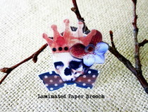 Brooch   Laminated Collage Wearable Art
