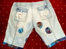 Jeans To Shorts Refashion