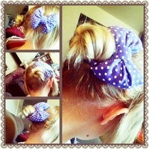 Purple Polka Dot Puffy Bow Clip!