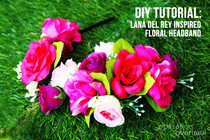 Lana Del Rey Inspired Floral Headband