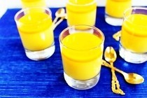 Yoghurt Panna Cotta With Mango Jelly