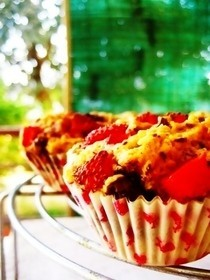 Dark Chocolate And Strawberry Muffins