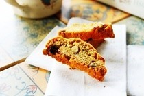 Roasted Almonds And Chocolate Chip Biscotti