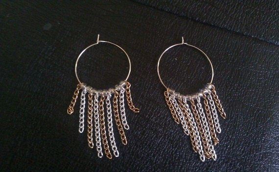 Wire Chain Earrings