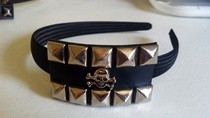 Studded Belt Headband