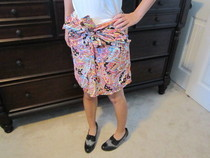No Sew Button Up Blouse To Skirt