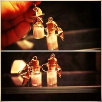 Tiny Bottle 'Stardust' Earrings