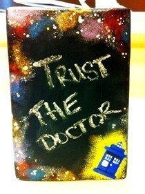 Mini Chalkboard Tardis Style