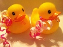 Baby Girl Rubber Ducky Baby Shower  Favors