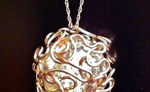 Bird Nest Mess Wire Wrapped Marble