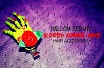 Halloween Zombie Hand Hair Accessory