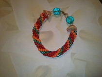 Tropical Beaded Crochet Bracelet