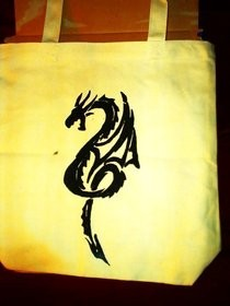 Screen Printed Dragon Bag
