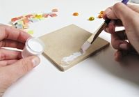 How to make a coaster. Stained Glass Mosaic Trivets - Step 3