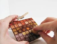 How to make a coaster. Stained Glass Mosaic Trivets - Step 8