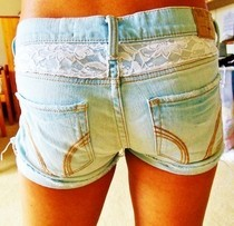 Lace Back Shorts