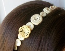 Vintage Button Headband